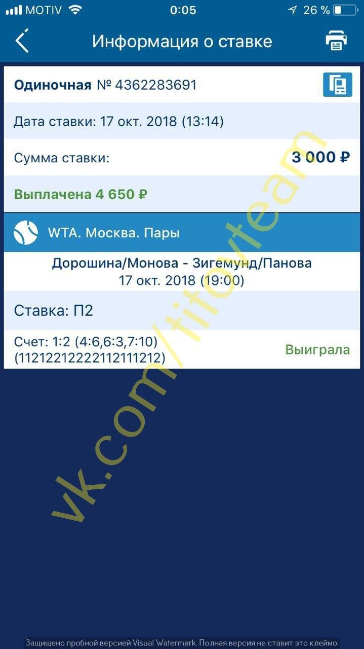 Ставки на матч Контавэйт – Потапова. Прогноз на теннис в Москве 15 Октября 2018