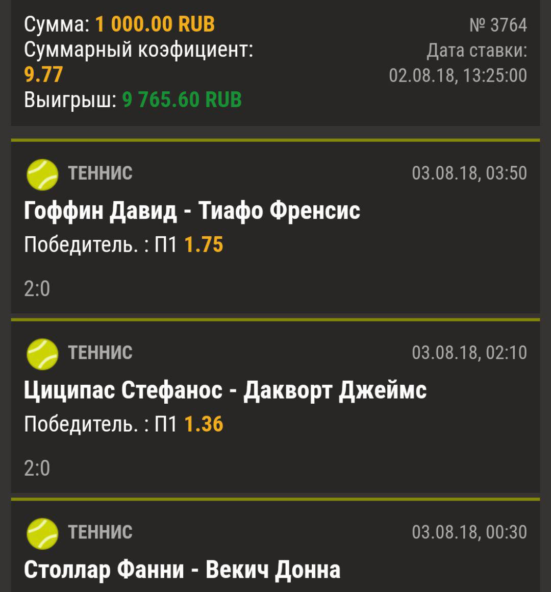 Ставки на матч Маррэй – Дакворт. Прогноз на теннис от 27.08.2018