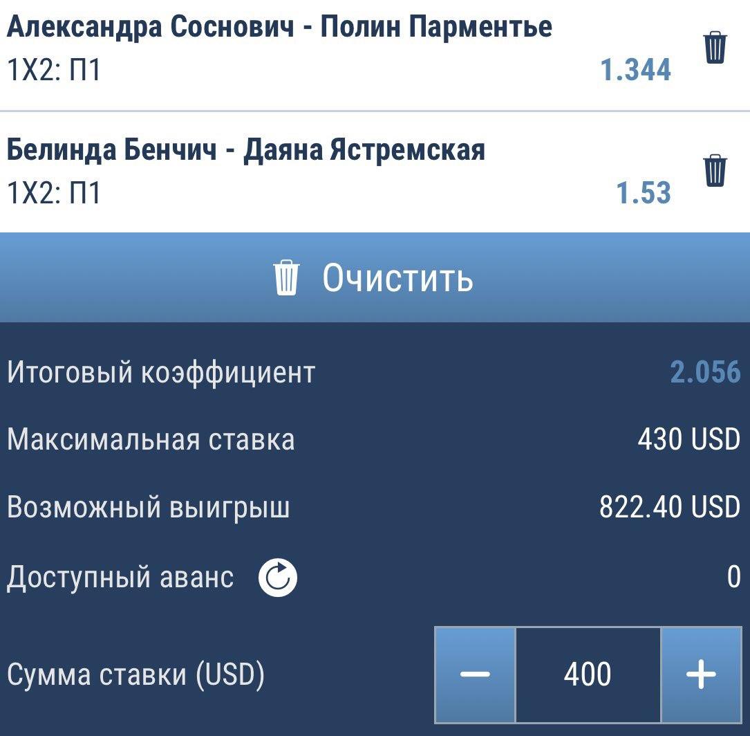 Ставки на матч Бенчич – Ястремская, прогноз на теннис от 19.10.2018